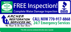 Archer Restoration Services Water Damage Atlanta